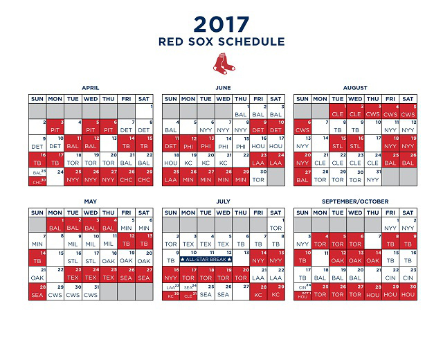 photo regarding Printable Red Sox Schedule identify Boston Crimson Sox Archives - Ballpark Nerd
