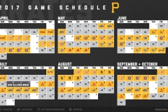 2017 Pirates Schedule